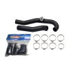 Turbosmart 15+ Mustang EcoBoost AL Charge Pipe Kit w/Hardware - Black (Stock repl. valve style)