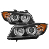 Spyder BMW E90 3-Series 06-08 4DR Headlights - Halogen Model Only - Black PRO-YD-BMWE9005V2-AM-BK