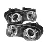 Spyder Acura Integra 94-97 Projector Headlights LED Halo -Chrome High H1 Low 9006 PRO-YD-AI94-HL-C
