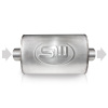 Stainless Works 2.5in ID CENTER INLET/ 2.5in OD CENTER OUTLET 5inX9in
