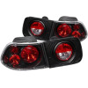 ANZO 1996-2000 Honda Civic Taillights Black