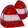 ANZO 1994-2000 Mercedes Benz C Class W202 Taillights Red/Clear