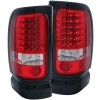 ANZO 1994-2001 Dodge Ram LED Taillights Red/Clear