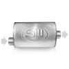 Stainless Works 2.25in ID OFFSET INLET/ 2.25in OD CENTER OUTLET 4inX8in