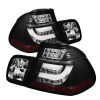 Spyder BMW E46 3-Series 02-05 4Dr Light Bar Style LED Tail Lights Black ALT-YD-BE4602-4D-LBLED-BK