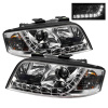 Spyder Audi A6 02-04 Projector Headlights Halogen Model Only - DRL Chrome PRO-YD-ADA601-DRL-C