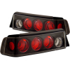 ANZO 1988-1991 Honda Civic Taillights Black
