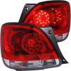 ANZO 1998-2005 Lexus Gs300 LED Taillights Red/Clear