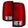 Spyder 07-13 GMC Sierra 1500 V2 Light Bar LED Tail Lights - Red Clear (ALT-YD-GS07V2-LBLED-RC)