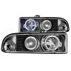 ANZO 1998-2005 Chevrolet S-10 Projector Headlights w/ Halo Black