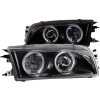 ANZO 1997-2002 Mitsubishi Mirage Crystal Headlights w/ Halo Black
