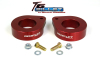 ReadyLift Suspension 07-15 Jeep Wrangler JK 1.5in T6 Billet Aluminum Leveling Kit Anodized - Red