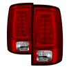 Spyder 09-16 Dodge Ram 1500 Light Bar LED Tail Lights - Red Clear ALT-YD-DRAM09V2-LED-RC