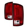 Spyder 07-09 Dodge Ram 2500/3500 V3 Light Bar LED Tail Lights - Red Clear (ALT-YD-DRAM06V3-LBLED-RC)