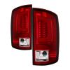 Spyder 07-09 Dodge Ram 2500/3500 V3 Light Bar LED Tail Lights - Red Clear (ALT-YD-DRAM06V3-LBLED-RC)