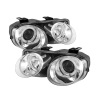 Spyder Acura Integra 98-01 Projector Headlights LED Halo -Chrome High H1 Low 9006 PRO-YD-AI98-HL-C