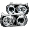 ANZO 1994-1997 Acura Integra Projector Headlights w/ Halo Chrome