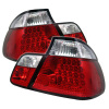 Spyder BMW E46 3-Series 99-01 4Dr LED Tail Lights Red Clear ALT-YD-BE4699-4D-LED-RC