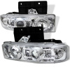 Spyder Chevy Astro 95-05/GMC Safari 95-05 Projector Headlights LED Halo Chrome PRO-YD-CA95-HL-C