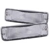 ANZO 1989-1995 Toyota Pickup Euro Parking Lights Chrome w/ Amber Reflector