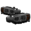 Spyder 12-14 BMW F30 3 Series 4DR Projector Headlights - LED DRL - Smoke (PRO-YD-BMWF3012-DRL-SM)
