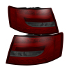 Spyder Audi A6 05-08 4Dr Sedan Light Bar LED Tail Lights Red Smke ALT-YD-AA605-LBLED-RS