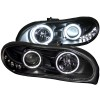 ANZO 1998-2002 Chevrolet Camaro Projector Headlights w/ Halo Black