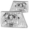ANZO 1998-2000 Ford Ranger Crystal Headlights Chrome