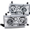 ANZO 1991-1994 Toyota Land Cruiser Crystal Headlights w/ Halo Chrome