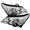 Spyder BMW E60 Projector Headlights Fctry Xenon Only - CCFL Halo Chrm PRO-YD-BMWE6004-D2S-CCFL-C