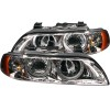 ANZO 1997-2001 BMW 5 Series Projector Headlights w/ Halo Chrome