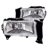 ANZO 1997-2004 Dodge Dakota Crystal Headlights Chrome