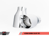AWE Tuning Audi B9 A4 Track Edition Exhaust Dual Outlet - Chrome Silver Tips (Includes DP)