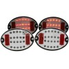ANZO 1997-2004 Chevrolet Corvette LED Taillights Smoke 4pc