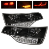 Spyder Audi Q7 07-09 LED Tail Lights Black ALT-YD-AQ707-LED-BK