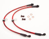 AP Chevrolet 10-13 Camaro Front Stainless Steel Braided Brake Lines