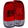 ANZO 1997-2003 Ford F-150 LED Taillights Red/Clear