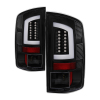 Spyder 07-09 Dodge Ram 2500/3500 V3 Light Bar LED Tail Lights - Black (ALT-YD-DRAM06V3-LBLED-BK)
