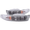 ANZO 1994-1997 Acura Integra Euro Parking Lights Chrome w/ Amber Reflector