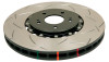 DBA 04-08 Porsche 911 GT3 T3 5000 Series Front Slotted Rotor Assembled w/ Black Hat