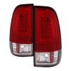 Spyder 08-16 Ford Super Duty F-250 V3 Light Bar LED Tail Lights - Red Clear (ALT-YD-FS07V3-LBLED-RC)