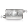 Stainless Works 2.25in ID OFFSET INLET/ 2.25in OD OFFSET OUTLET (ON OPPOSITE SIDES) 4inX8in