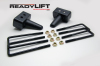 ReadyLift Suspension 04-15 Ford F150 3.0in Tall OEM Style Rear Lift Block Kit w/ U-Bolts