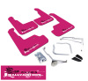 Rally Armor 11-14 Subaru WRX (Hatch Only) UR Pink Mud Flap w/ White BCA Logo