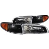 ANZO 1997-2003 Pontiac Grand Prix Crystal Headlights Black