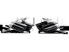 Akrapovic 09-14 Lamborghini Gallardo LP 550-2 Coupe Tail Pipe Set (Carbon)