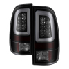 Spyder 97-03 Ford F150 Stylsd. F250 V3 Lght Bar LED Tail Lights - Blk Smk ALT-YD-FF15097V3-LBLED-BSM