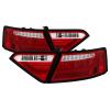 Spyder 08-12 Audi A5 LED Tail Lights - Red Clear ALT-YD-AA508V2-LED-RC