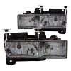 ANZO 1988-1998 Chevrolet C1500 Crystal Headlights w/ Smoke Lens