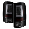 Spyder 00-06 GMC Yukon/Yukon XL V2 Light Bar LED Tail Lights - Blk Smoke (ALT-YD-CD00V2-LBLED-BSM)